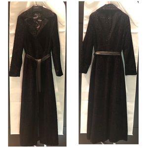 Arden B Faux Fur Maxi Coat- Small